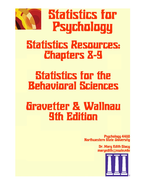 Statistics Resources Chs 8-9 9E