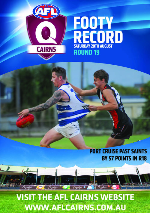 AFL Cairns Footy Record Round 19 Saturday 20th August 2016