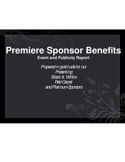 Premiere Sponsor Benefits Report