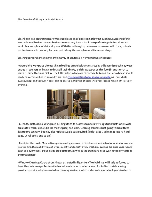 janitorial services roseville