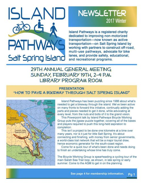 Island Pathways 2017 Winter newsletter