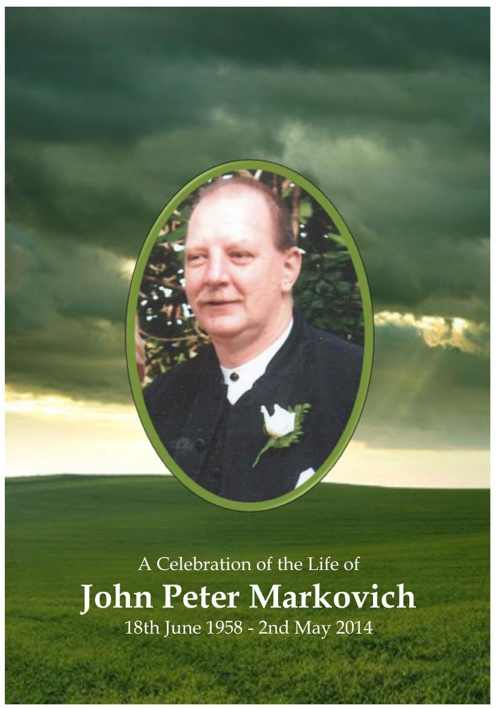 4 Order of Service for John Markovich