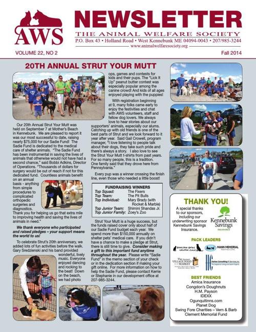 AWS Fall Newsletter 2014
