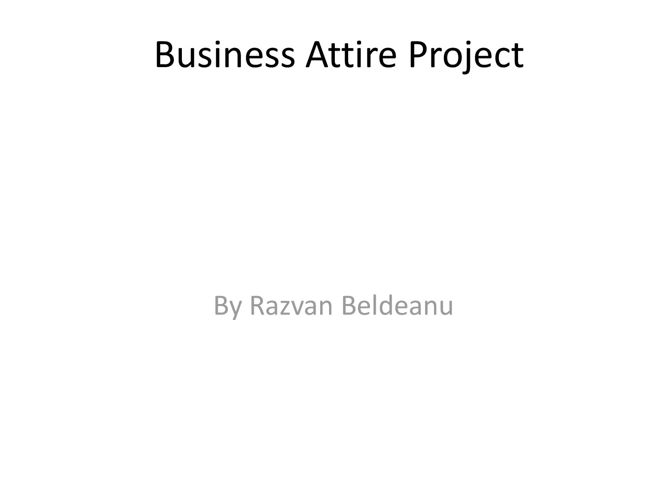 Business Attire Project