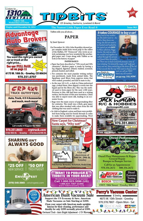 Tidbits of Greeley/Centerra/Loveland, Issue 963