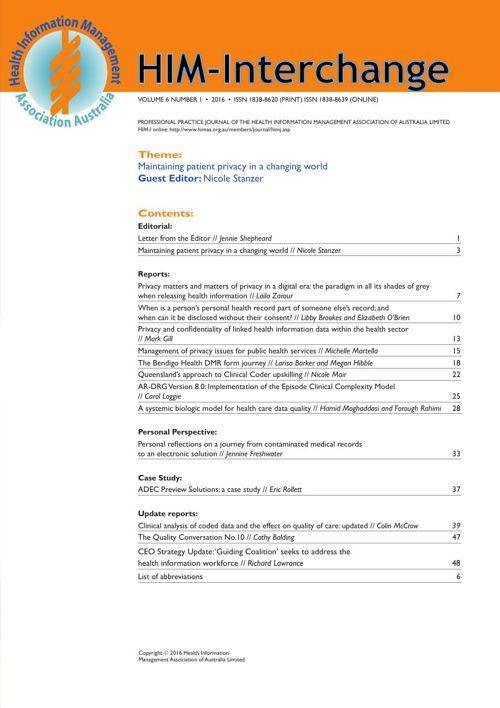 HIM Interchange Vol 6 Issue 1