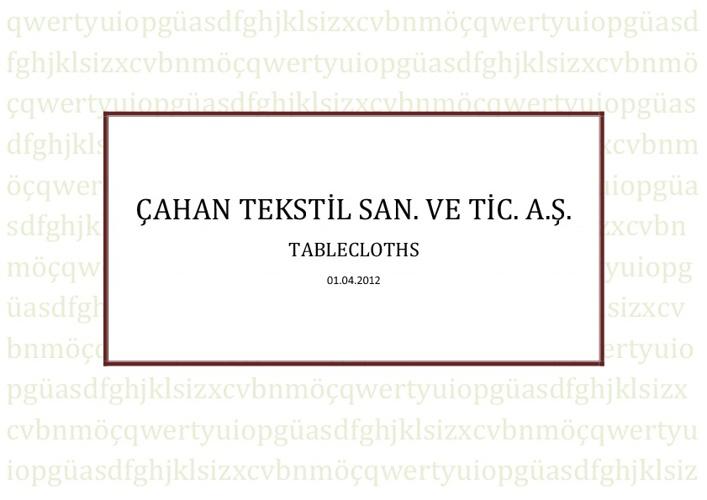 Çahan Textile A.Ş   Table Clothes