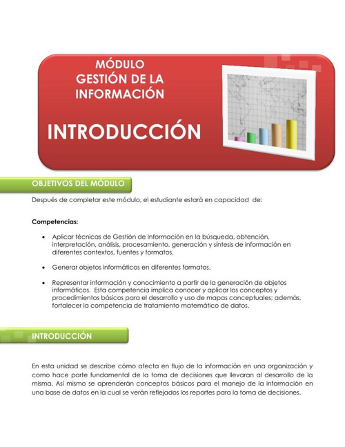 Guía Pedagógica Introducción a la Gestión de Información