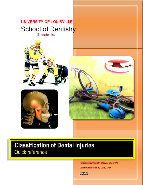 Classification of Dental Injuries - Quick reference