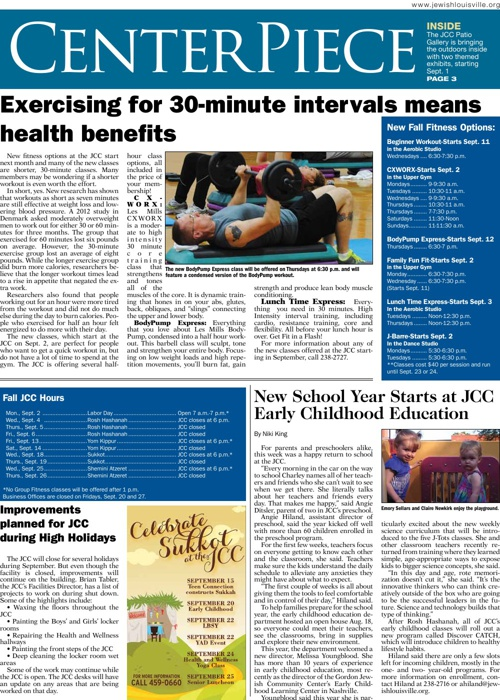 COMMUNITY | CENTERPIECE | August 23, 2013