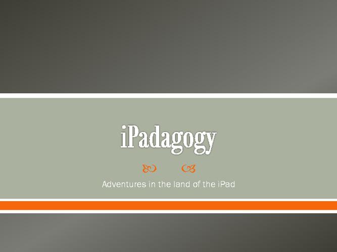 iPadagogy