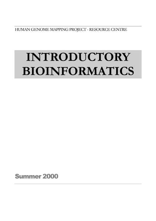 Introductory Bioinformatics - Teste