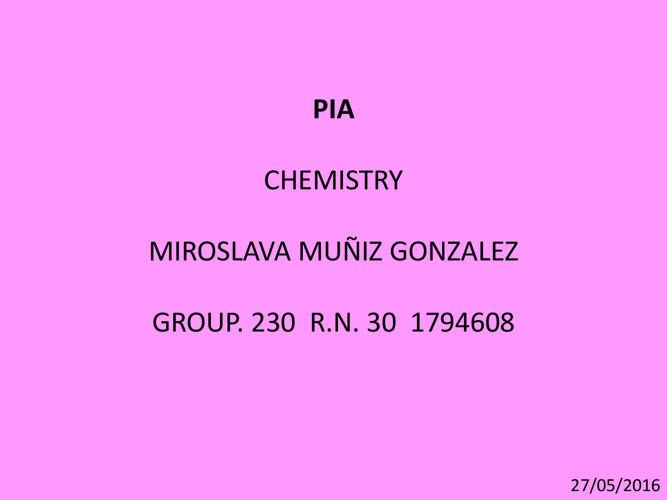 MMG PIA CHEMISTRY ll
