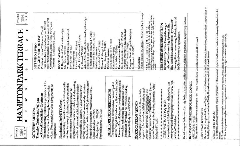 HPT Newsletter October 1997