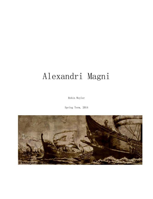 Alexandri Magni