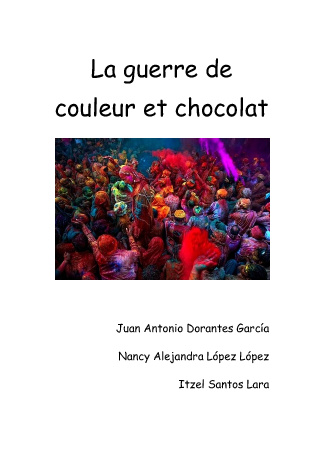La guerre de couleur et chocolat