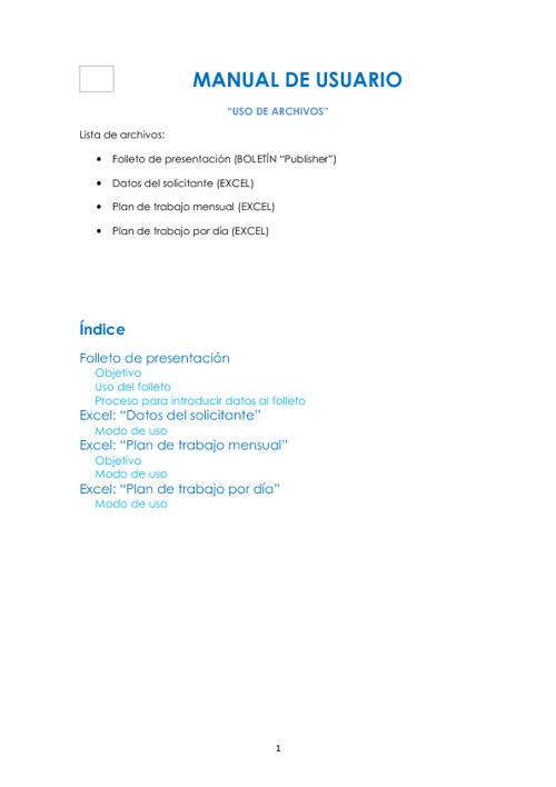 """Manual de Usuario """"Uso de Archivos"""""""