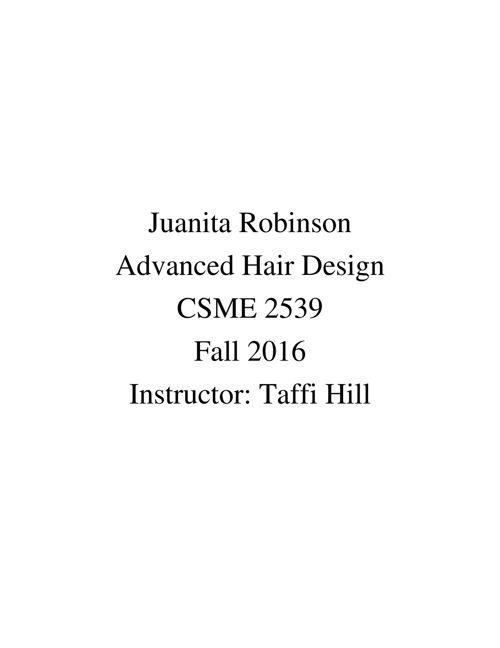 Juanita Portfolio Mrs. Hill
