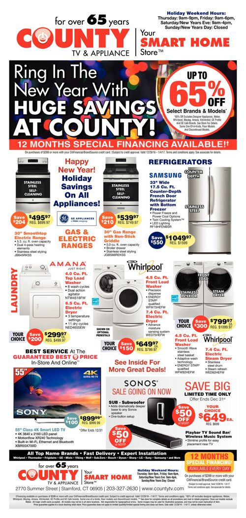 Ring in the New Year with Huge Savings at County!