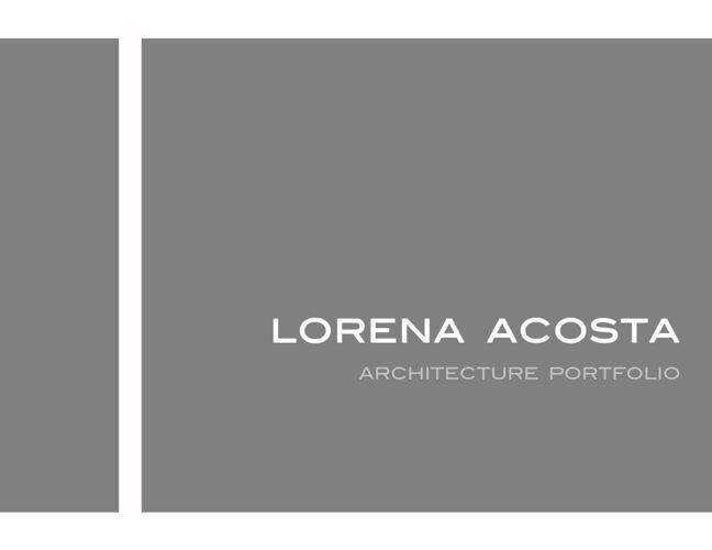 Lorena Acosta Portfolio