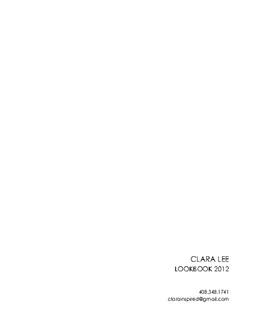 CLARA LEE Look Book 2012