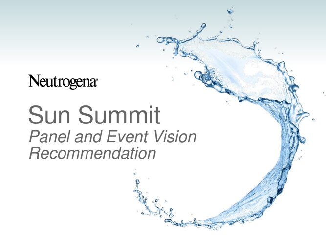 Sun Summit Panel and Event Vision Recommendation