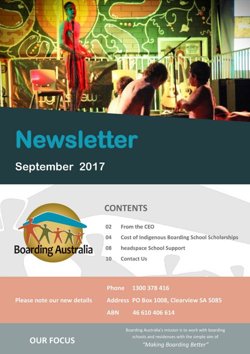 Boarding Australia September 2017 Newsletter