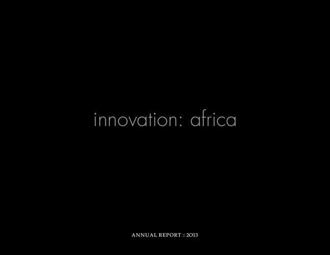 innovation: africa 2013 report