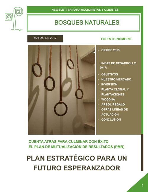 Newsletter Bosques Naturales marzo 2017