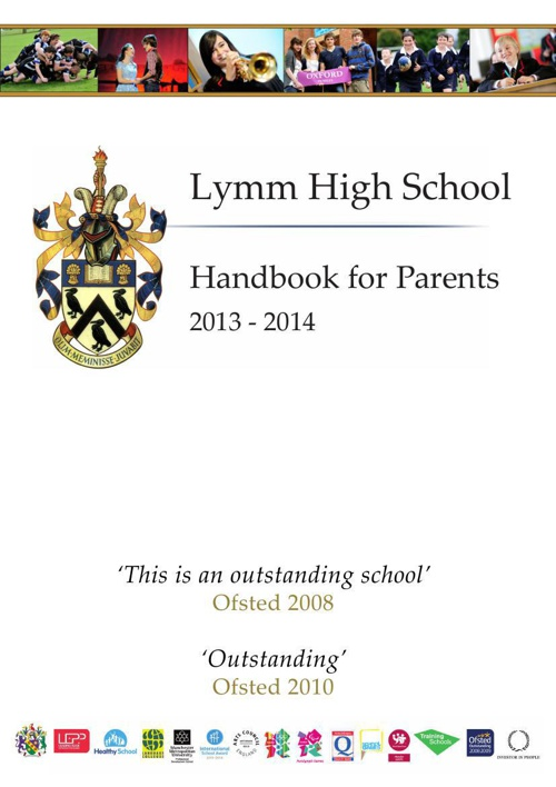 Handbook for Parents 2014