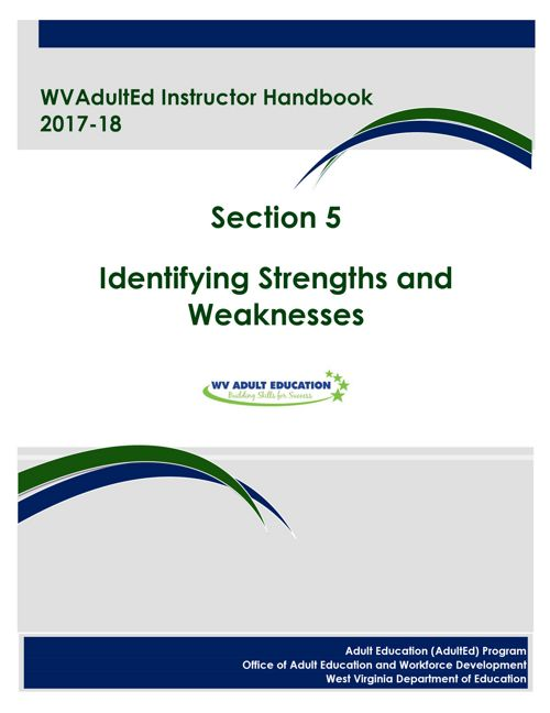 WVAdultEd Instructor Handbook 2015 - 2016 Section 5