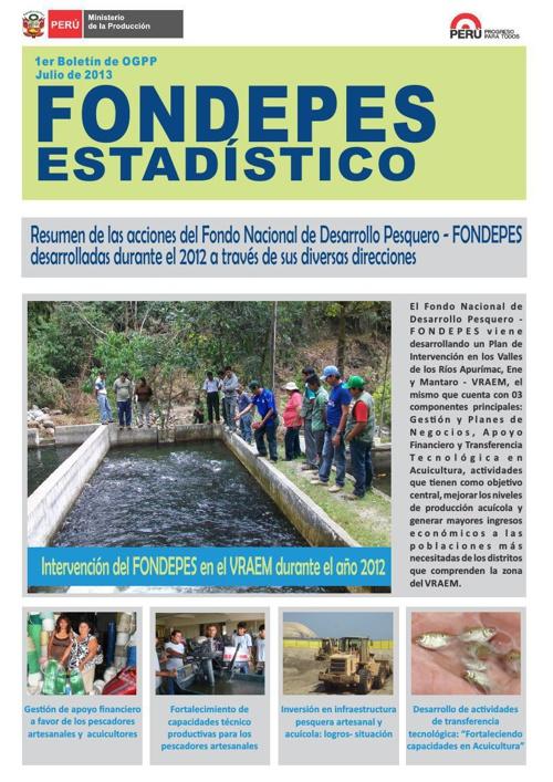 BOLETIN ESTADISTICO - FONDEPES/OGPP