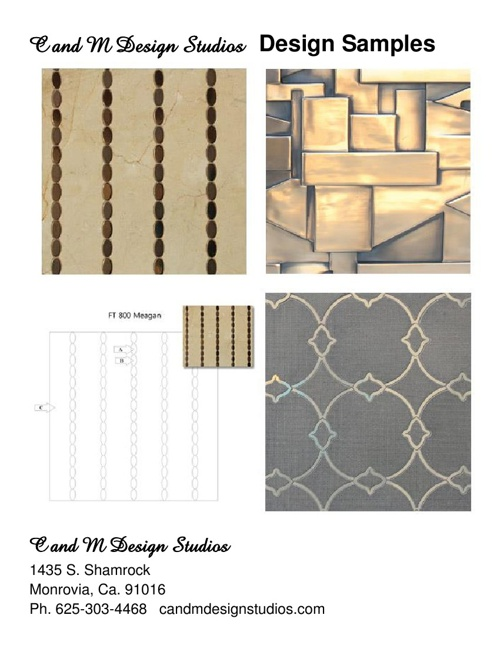 C and M Design Studios Samples
