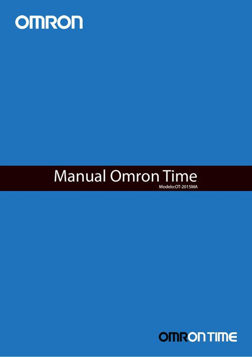 Omron Time Manual do Produto