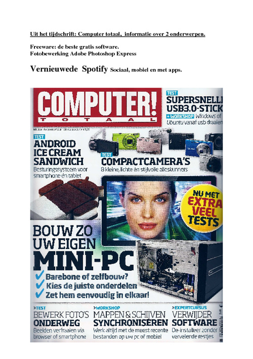 Vernieuwde Spotify & Adobe Photoshop Express