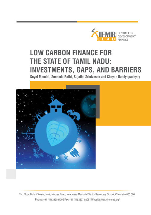 Low Carbon finance for Tamil Nadu: Investments, Gaps and Bar