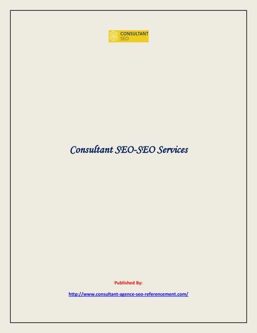 Consultant SEO-SEO Services