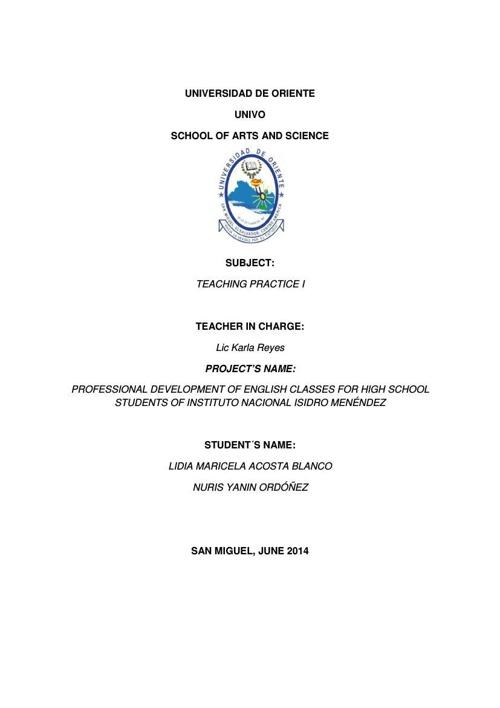 MEMORY REPORT, HIGH SCHOOL