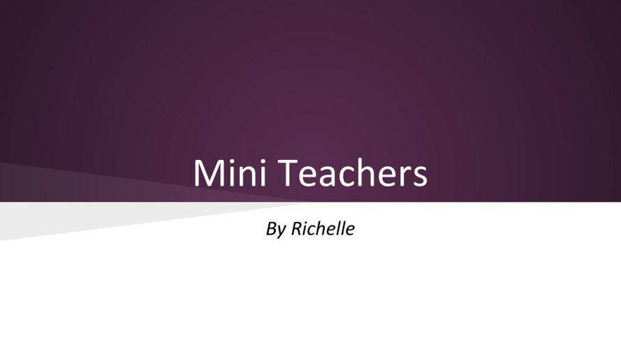Mini Teachers Slides