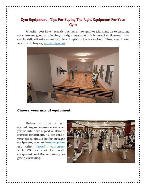 Gym Equipment – Tips For Buying The Right Equipment For Your Gym