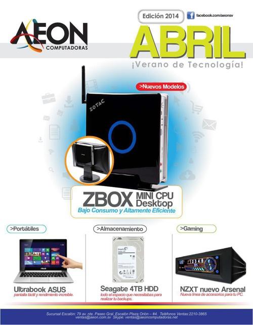 AEON Computadoras - Catálogo Abril 2014