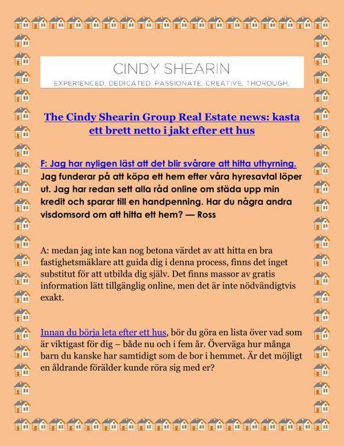 The Cindy Shearin Group Real Estate news kasta ett brett netto i