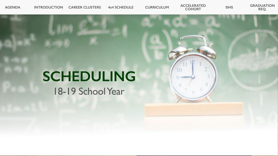 Scheduling Change 19 School Year Presentation Accelerated