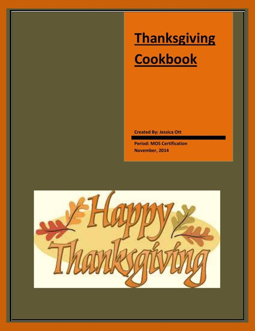 Thanksgiving Cook Book Final 4