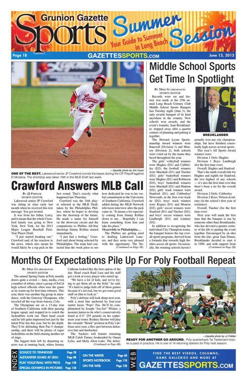 Gazette Sports | June 13, 2013