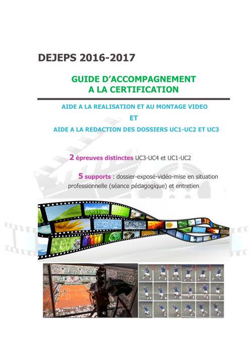 Guide accompagnement nouvelle certification DEJEPS - 4 sept 16