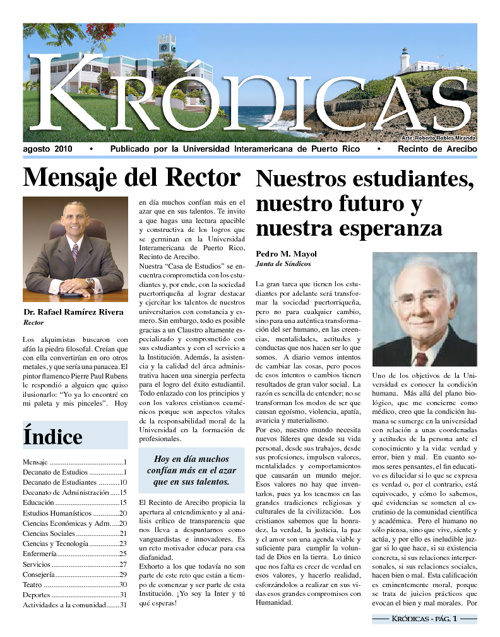 Periódico Krónicas - agosto 2010