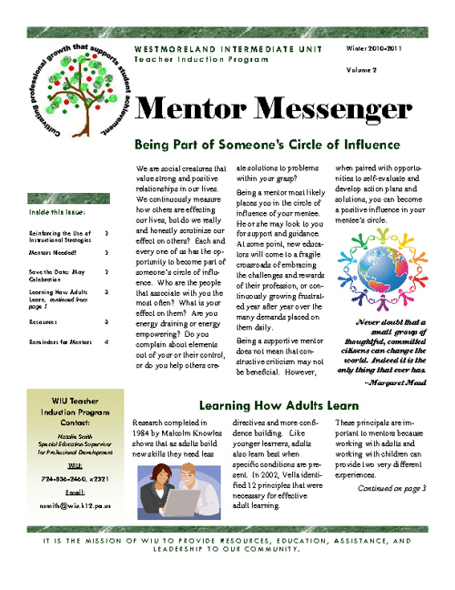 Mentor Newsletter