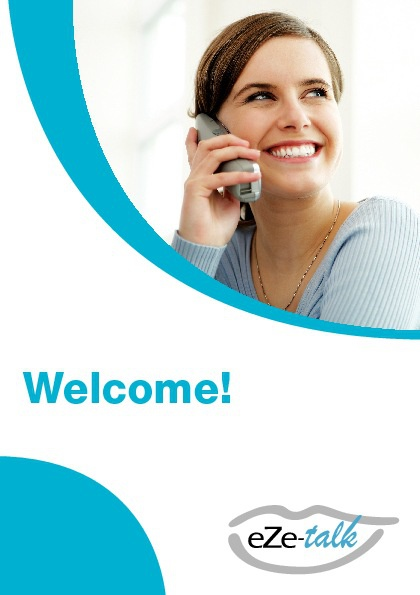 eZe-talk Welcome Leaflet