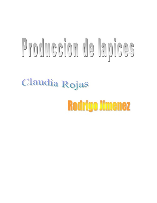Produccion de Lapices
